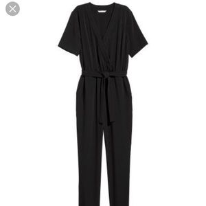 H&M belted Straight leg Jumpsuit